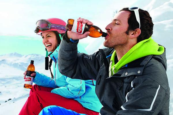 Wintersportler machen Pause zu Rivella, Rivella Twens von Strongmanrun.ch