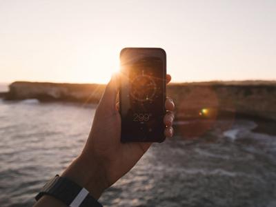 Kompass auf dem Iphone hilft die in die richtige Richtung zu gehen