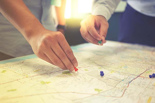 Ziele auf einer Karte setzen