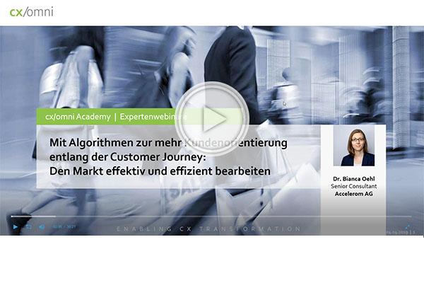 Webinar: Mit Algorithmen zu mehr Kundenorientierung entlang der Customer Journey