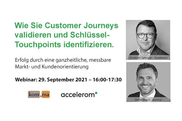 Webinar: Wie Sie Customer Journeys validieren und Schlüssel-Touchpoints identifizieren. Erfolg durch eine ganzheitliche, messbare Markt- und Kundenorientierung