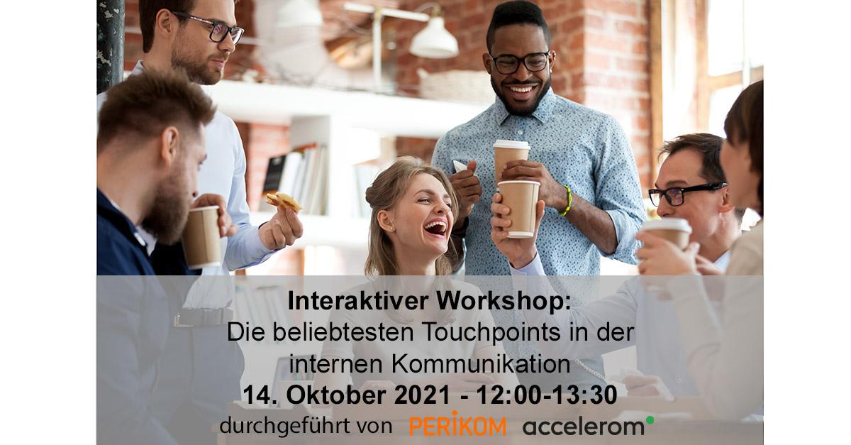 Interaktiver Workshop: die Beliebtesten Touchpints in der internen Kommunikation